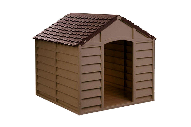 Avanti Maxi - Caseta para Perros de Resina plástica - Tamaño Mediano/Grande - 78 x 84 x 85 cm - marrón: Amazon.es: Hogar