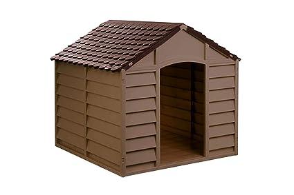 Casette Per Cani In Plastica.Avanti Trendstore Cuccia Per Cani In Resina Maxi Plastica Marrone Taglia Media Grande 78x84x85 Cm