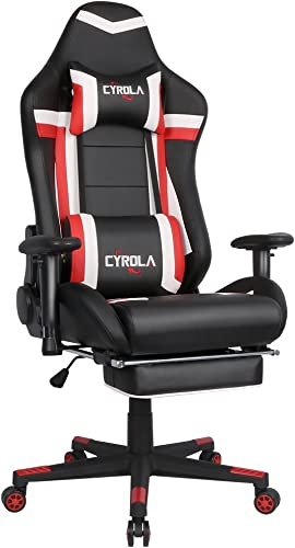CYROLA Large Gaming Chair for PC Racing