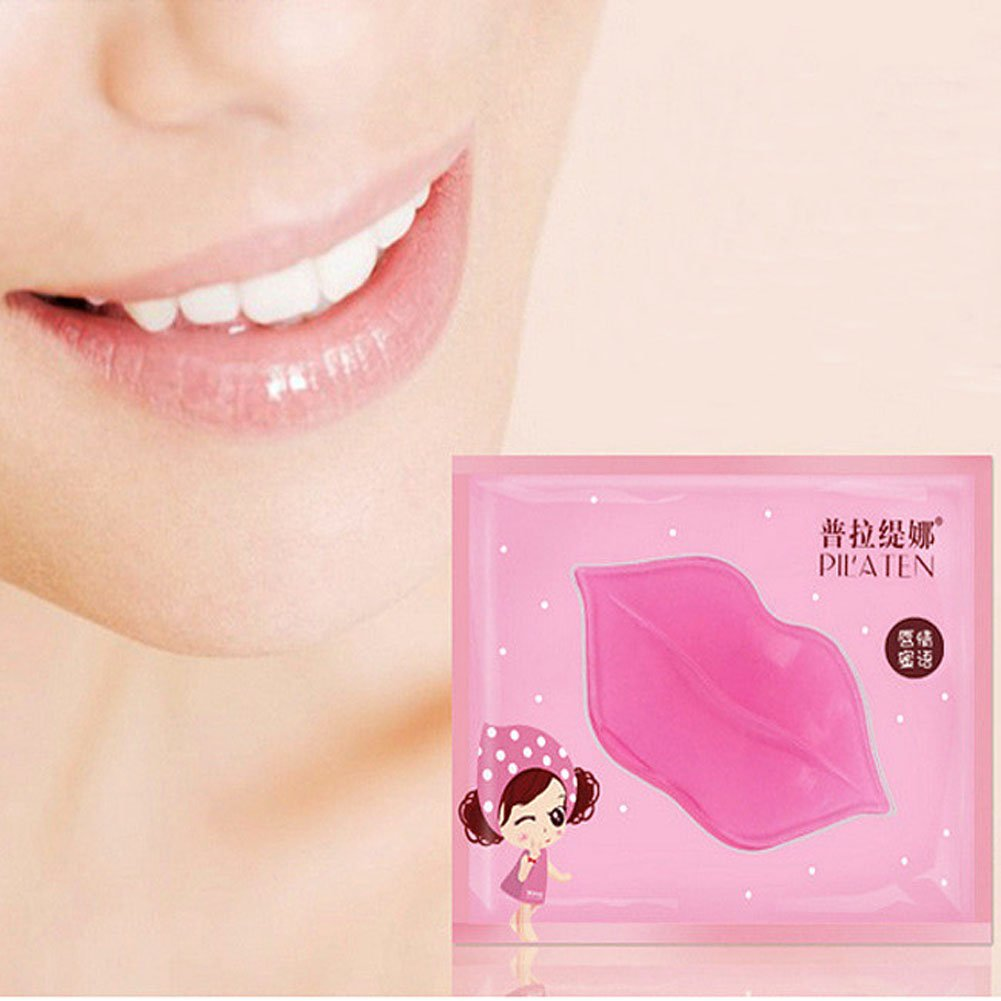 CCbeauty 20-Pack Pink Collagen Crystal Lip Mask Lip Plumper Mask Gel Care Mask Moisturer Essence Make Your Lip Attractive and Sexy by CCbeauty (Image #6)