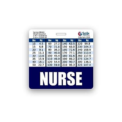 Amazon Nurse Badge Buddy Horizontal W Height Weight