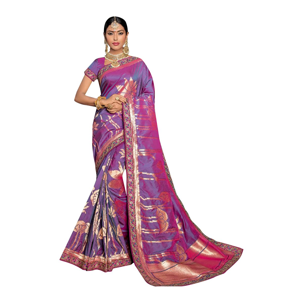BOLLYWOOD DESIGNER TRADITIONAL SILK SAREE SARI BLOUSE WEDDING CEREMONY PARTY WEAR INDIAN WOMEN ETHNIC EMPORIUM 341