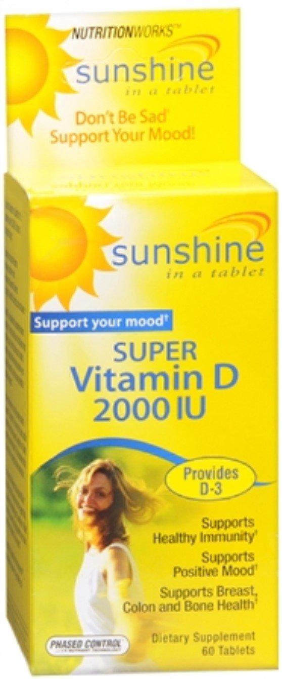 Nutritionworks Sunshine Super Vitamin D 2000 IU Tablets 60 Tablets (Pack of 7)