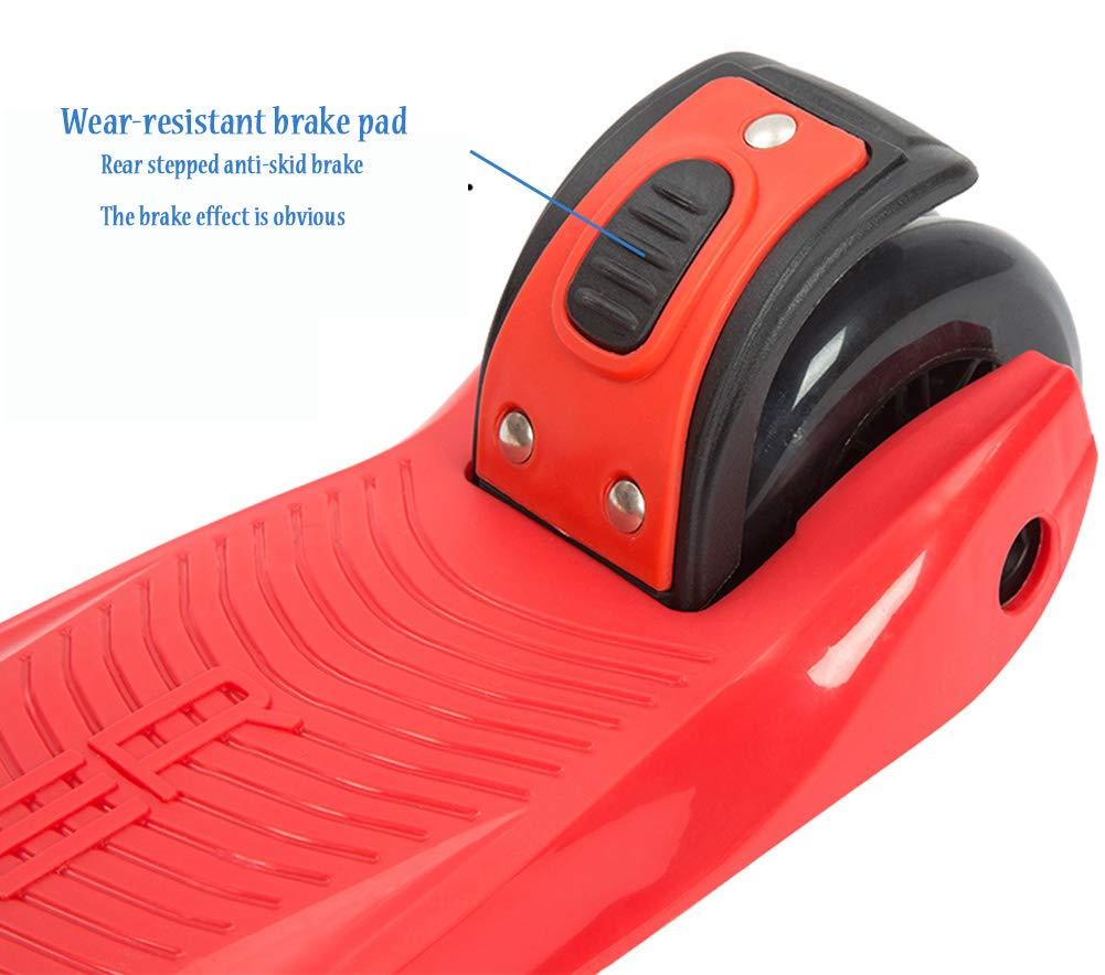 GK Scooter A 3 Ruote per Bambini Piccoli 2 2 2 in 1, con Scooter per Sedile Rimovibile E Regolabile, Ruote con Luce A LED per Le Ragazze dei Ragazzi 2-14 Anni, Giocattolo per Bambini,blu 880dcb