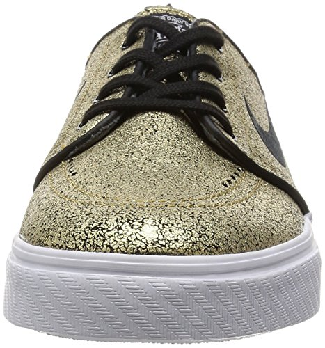 Nike Zoom Stefan Janoski, Men's Closed-Toe Metallic Gold/Black-white-gm Light Br