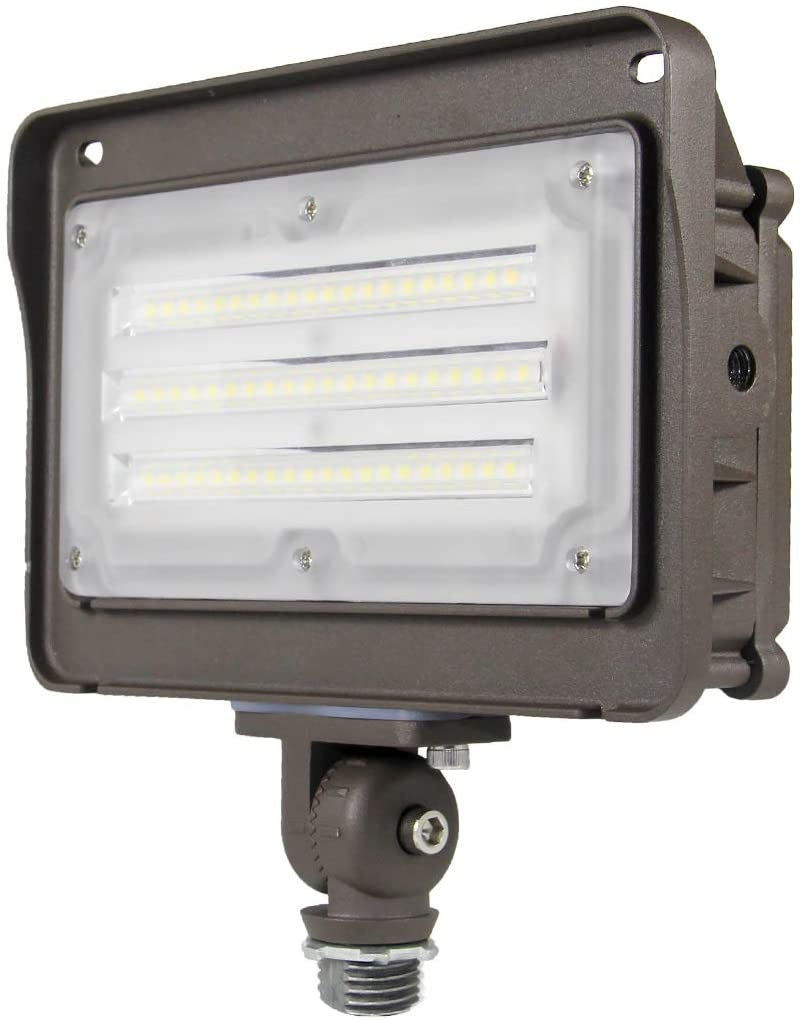 Kadision LED Flood Light, Dusk-to-Dawn Photocell Sensor, 50W 250W Equivalent , 180-Degree Adjustable Knuckle, IP65 Waterproof Outdoor Area Lighting, 5000K 6500lm 100-277Vac ETL DLC Listed