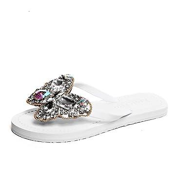 HAIZHEN Maison Chaussons Chaussures de mode à l'été Femmes Sandales de plage  plates antidérapantes