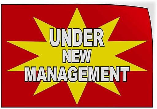 Decal Sticker Multiple Sizes Under New Management Business Business Under New Management Outdoor Store Sign Orange Set of 5 27inx18in