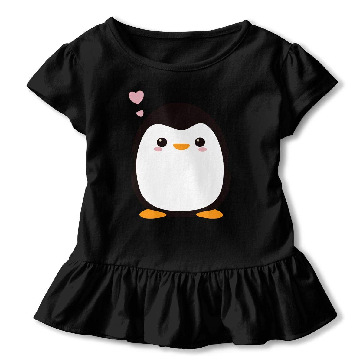 SHIRT1-KIDS Kawaii Penguin Toddler//Infant Girls Short Sleeve T-Shirts Ruffles Shirt Tee for 2-6T