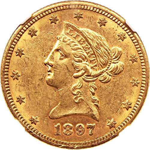1897 O $10 Liberty Gold Ten Dollar AU58 (1897 Coin)