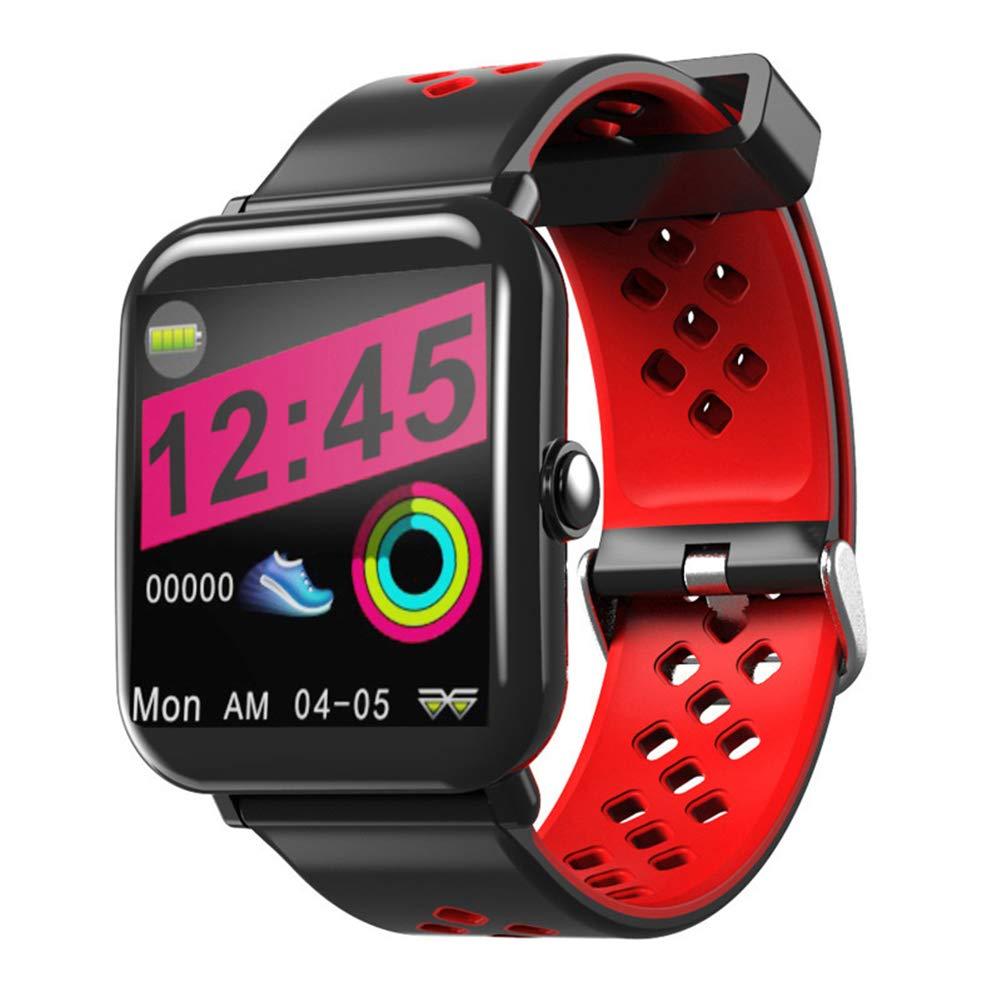 ウェアラブル 睡眠モニタリング防水肌に優しい素材スポーツステップ睡眠モニタリングアウトドアフィットネスに最適ギフト B07R33HMND red