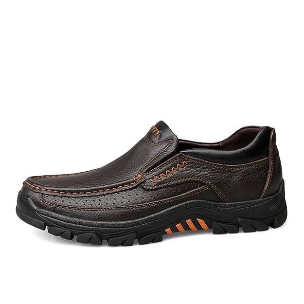 ailishabroy Hommes Chaussures en cuir pour Marron noir Entreprise Formel Loafers Oxford Homme (38 EU, Noir)