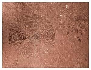 Linea Hogar Deco, Mantel de tejido técnico metalizado decorativo - New Tresor, Ref. Láser Liria Brown, 137cm x 20m