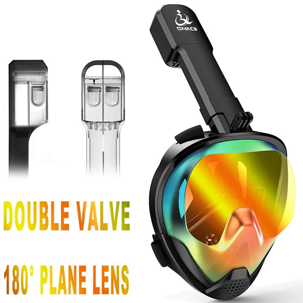 WARM ROOM Masques de plongée en Masque intégral, Vue panoramique Masque de plongée sous-Marine pour la plongée sous-Marine avec Masque Anti-buée Compatible avec GoPro