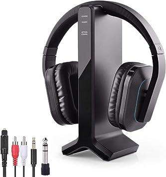 Avantree HT280 Auriculares Inalámbricos para Ver TV con 2.4G RF Base de Carga del Transmisor, Auriculares de Alto Volumen Ideales para Personas Mayores y Discapacidad Auditiva, Rango de 30M: Amazon.es: Electrónica
