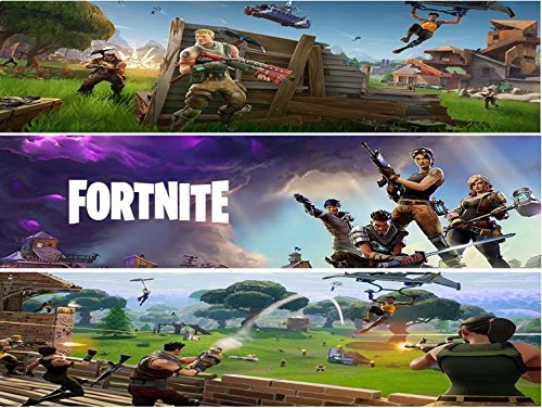 """Price comparison product image Fortnite Edible Cake Image Topper Border Strips - 3 Strips (strips 2.5"""" x 10"""" each)"""