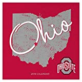 """Time Factory Ohio State University 12"""" x 12"""" January -December 2019 Wall Calendar (19-1130)"""