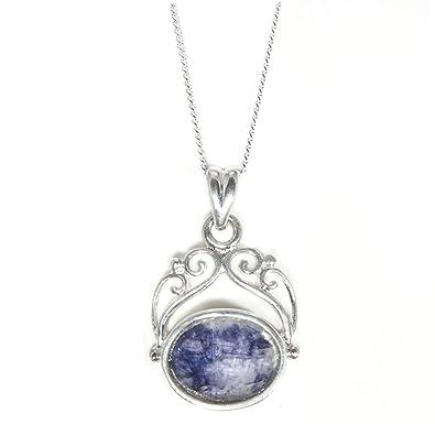 Silver / Blue John (Derbyshire) 'Moments' Locket srFqjO