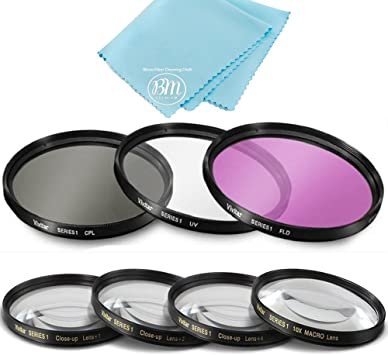 Neewer/® 58MM CPL Circular Polarizer Filter Multi-Coated with Microfiber Cleaning Cloth for Camera Lens with a 58mm Filter Thread