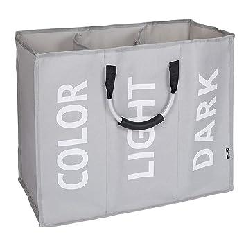 Noir Basics Panier /à linge en tissu avec poign/ée en aluminium