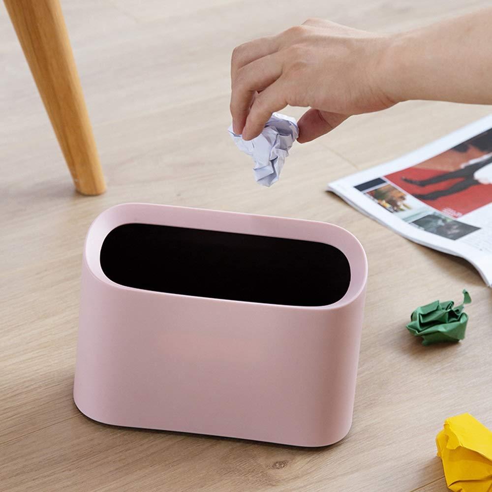 Color : White Nordic Desktop Corbeilles Poubelles Cr/éative Mini Trash Can 4L M/énage Nettoyage Poubelle Salon Table Basse Bureau ChevetCorbeille