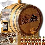 Personalized Outlaw Kit (Orange Brandy) ''MADE BY'' American Oak Barrel - Design 077: Dad's Poker Reserve - Master Distiller Series (5 Liter)