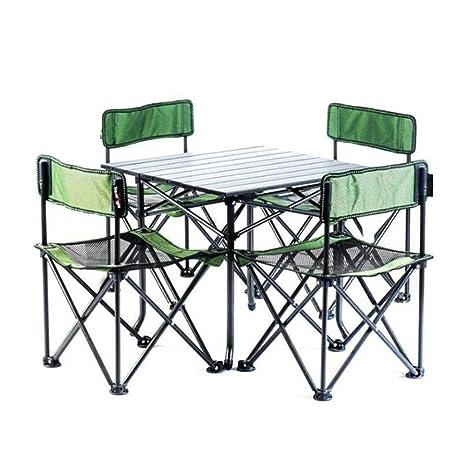 Amazon.com: LSS Juego de mesa y silla plegables para ...