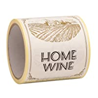 100 Wine Labels For Homemade Wine Making- Peel And Stick Large Size 9 x 12cm