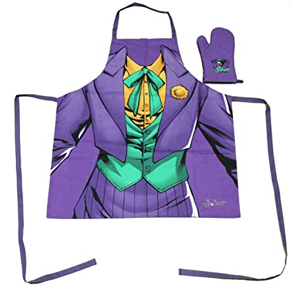 Batman DC Comics Delantal + Guante - The Joker - Lila ...