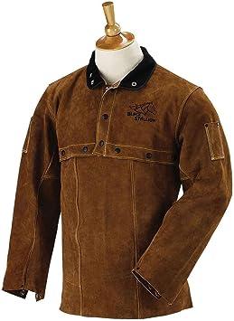 Side Split Cowhide Leather Cape Sleeve and 14 Bib Set XL