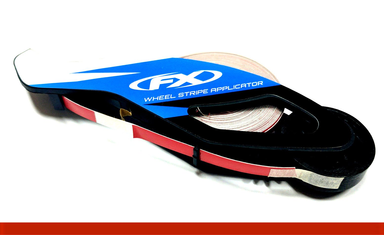 Reflective Red Rim Tape Rim Wheel Stripes w/ Easy Applicator for 16'' 17'' 18'' Motorcycle Car Truck Wheels