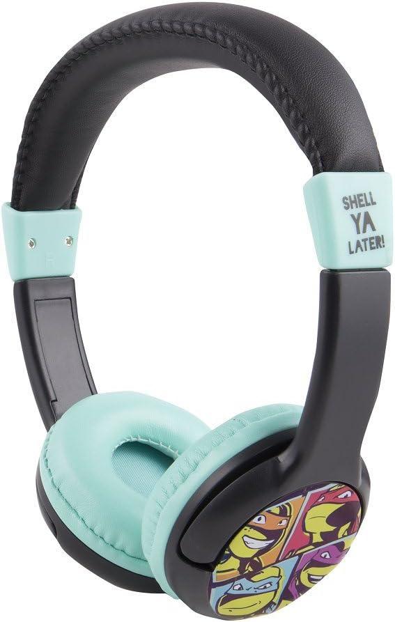 Teenage Mutant Ninja Turtles Headphones HP2-09065 by Sakar, Soft Cushioned Ear Pieces, Headband for Superior Comfort, Feature a 3.5mm Stereo Jack, Clear Bass, Ninja Turtle Design