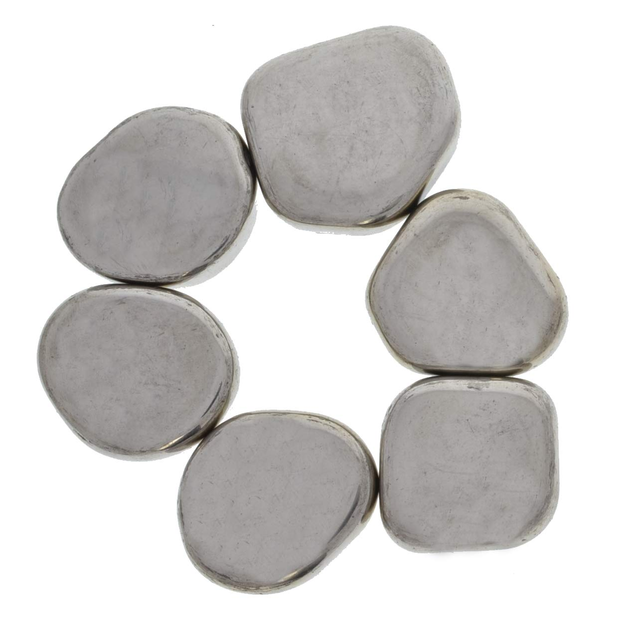 Hypnotic Gems: 18 lbs Large Silver Magnetic Hematite Asteroid Magnet Stones (90-105 pcs avg) - Bulk Magnets for Art, Crafts, Fidget Toys, Sticky Stones and More!