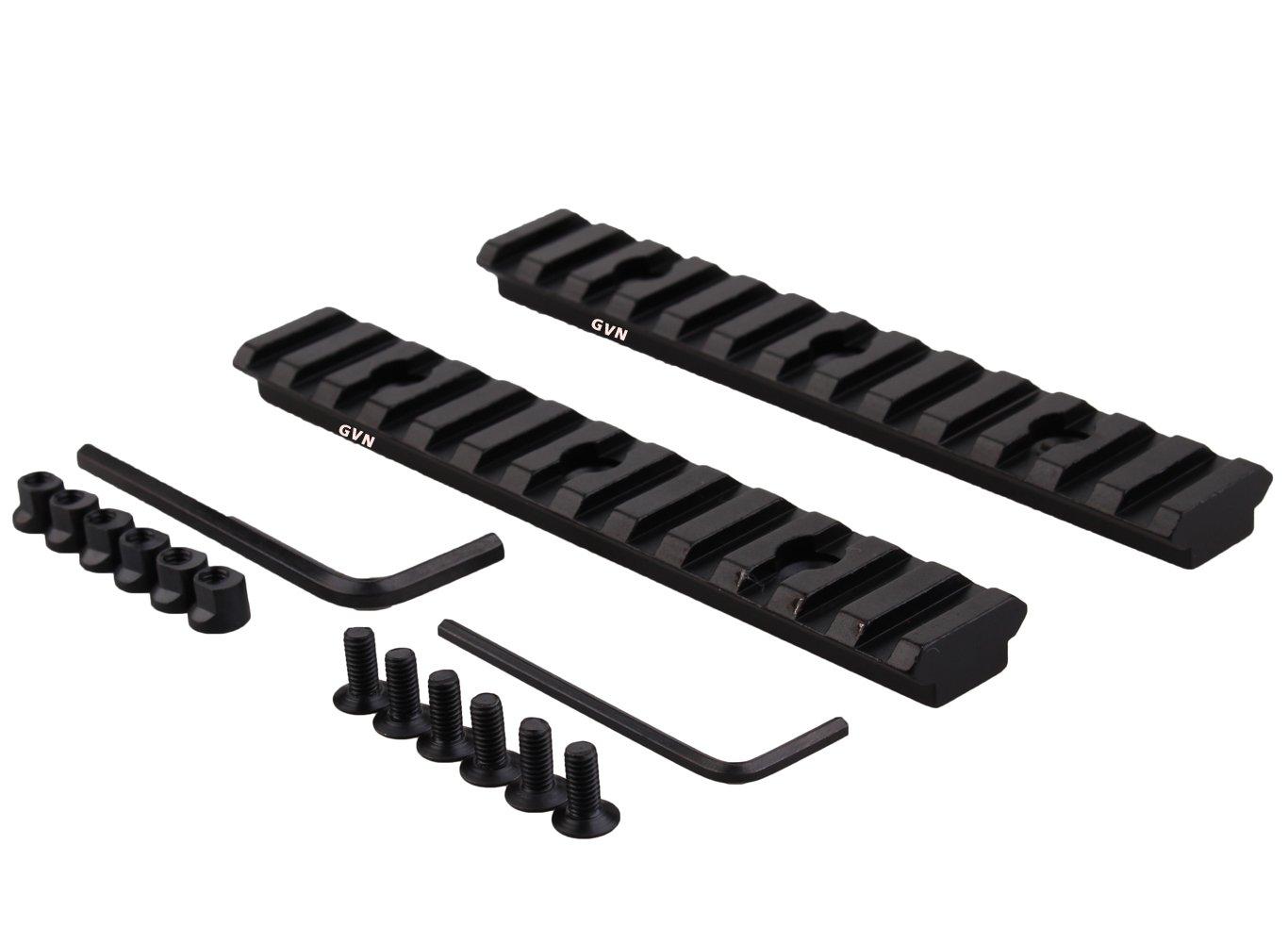 Keymod Picatinny Rail Section 5.2 Inch/13 Slot Picatinny/Weaver Rail (2 Pieces Matte black)