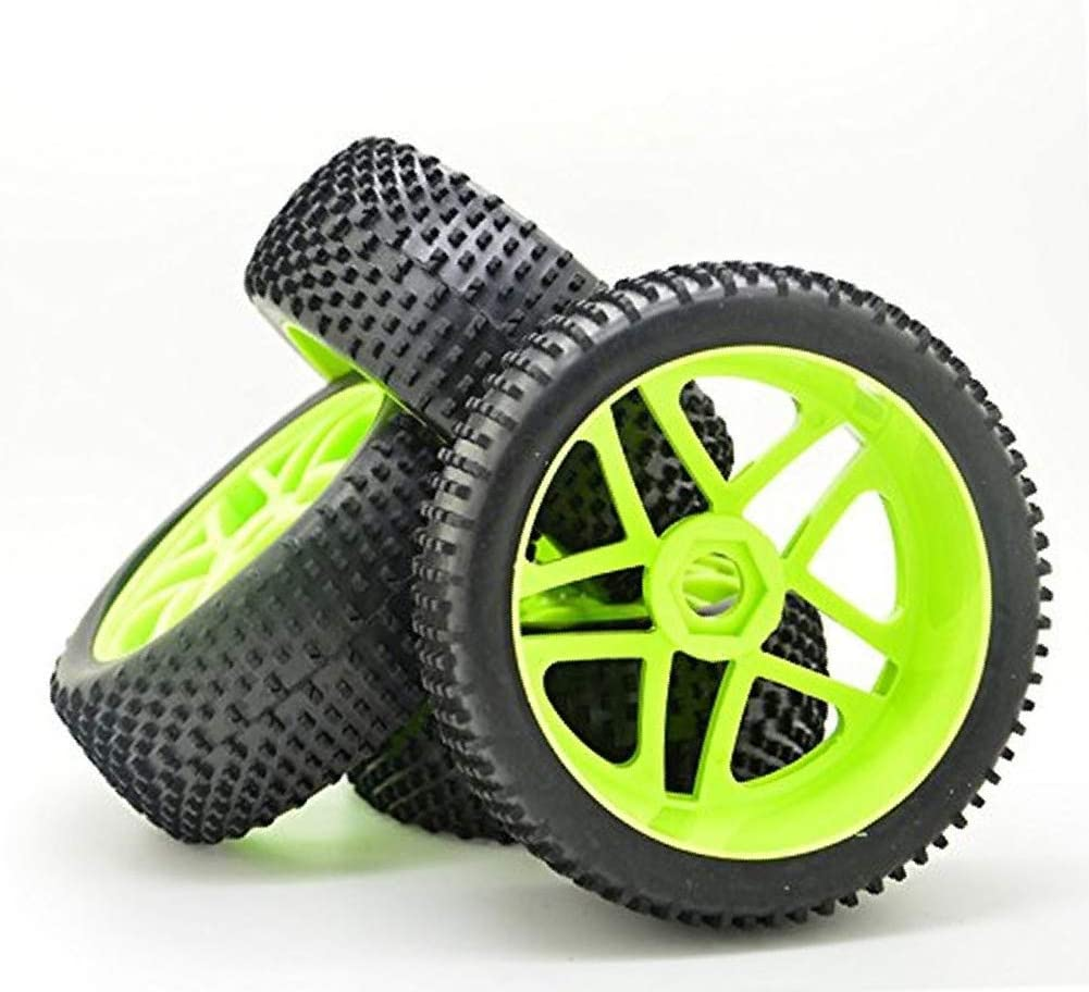 Sedensy 4 Pz Hollow Black 17mm Mozzo Gomma Solid Wheel Pneumatici per RC 1//8 off-Road Car 4 Pezzi Come da Immagine