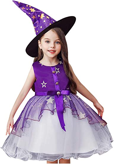 Posional Disfraz Halloween Bruja Niña Costume Cosplay Vestido para ...