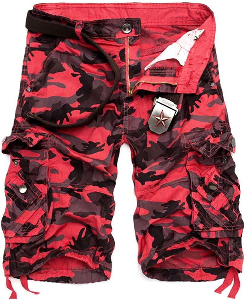 HEJclo Camouflage Loose Cargo Shorts