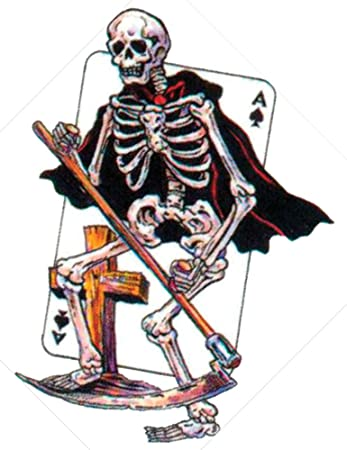 4de615d1e Amazon.com : Grim Reaper with the Ace of Spades Temporary Tattoo #AS507  from TattooGirlsRule : Beauty
