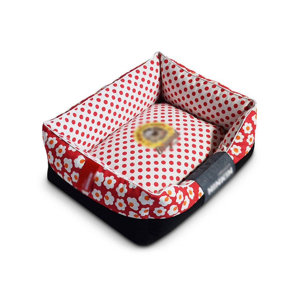 A 3545cm A 3545cm RKY Dog Mat Pet Bed Pet Mat Medium Small Dog Cat Dog Nest Pet Sleeping Pad Washable Four Seasons Pet Supplies Soft sleeping pad (color   A, Size   35  45cm)