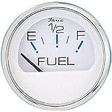 "Faria - 3003.3544 13801 Chesapeake Stainless Steel Fuel Level Gauge (E-1/2-F) - 2"", White"
