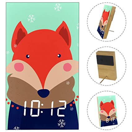 Amazon.com: Snow Fox Wear Scarf Digital Alarm Clock USB Port ...