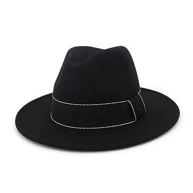 ff92e6ccf Men Vintage Gangster Trilby Felt Fedora Hat Women Width Band Wide ...
