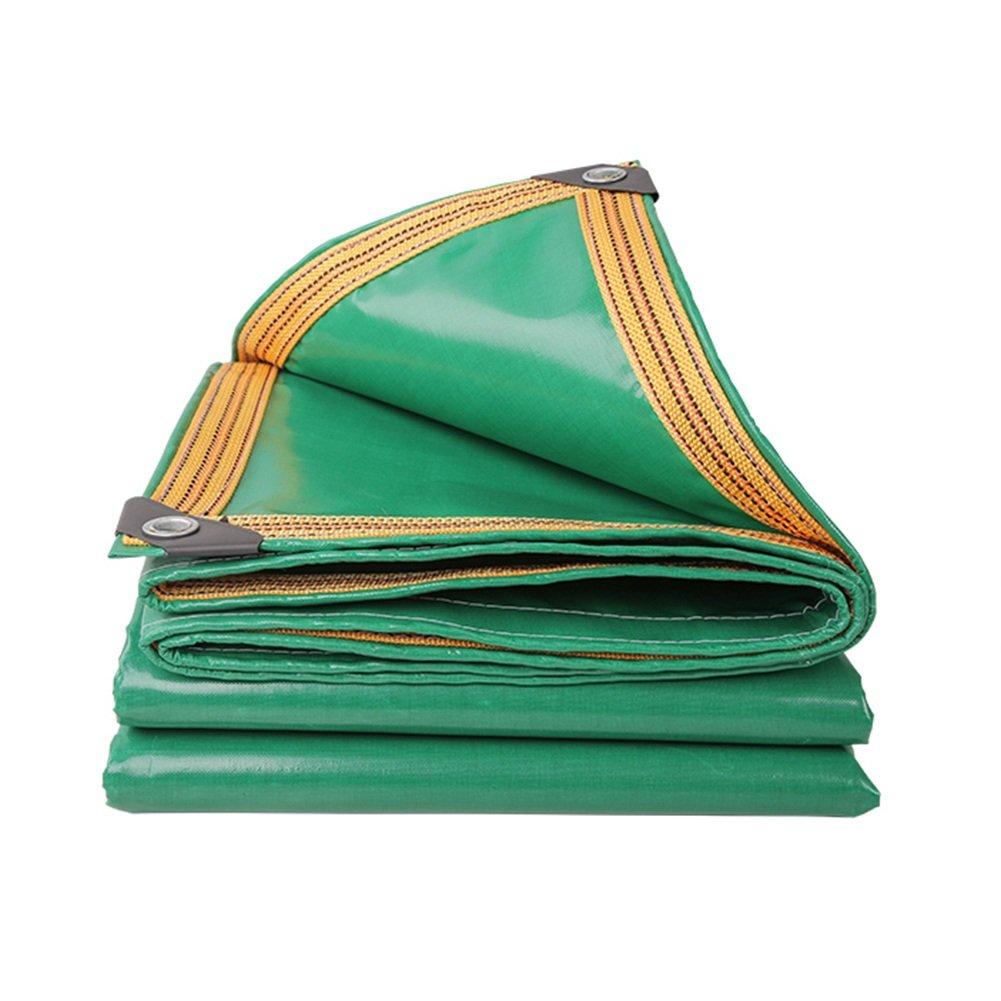 ZEMIN オーニング サンシェード ターポリン 防水 日焼け止め テント シート ルーフ 防風 絶縁 リノリウム ポリエステル、 緑、 350G/M²、 18サイズあり (色 : 緑, サイズ さいず : 6X8M) B07D6M281C  緑 6X8M