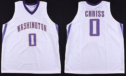 finest selection 75085 cc1ba Marquese Chriss #0 Washington Huskies Custom Stitched On ...