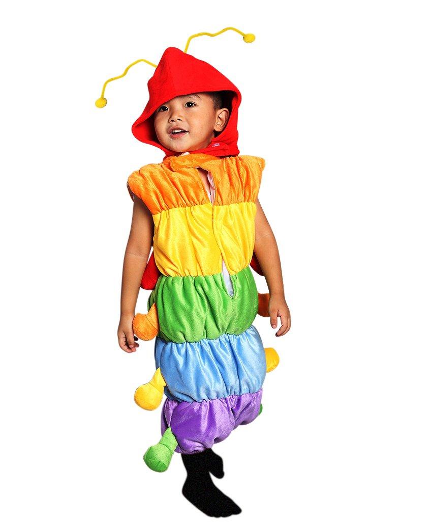 F83 Tamaño 5-6 años traje oruga para los niños, cómodo de llevar en la ropa normal: Amazon.es: Juguetes y juegos