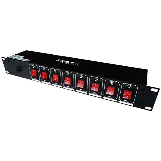15 opinioni per Ibiza Lc806S presa elettrica multipla ciabatta (8 canali, 3000 Watt, adatta a