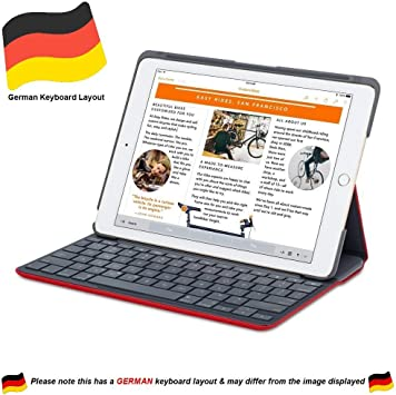 Logitech 920-007274 - Teclados para móviles (Negro, Apple, iPad Air 2, QWERTZ)