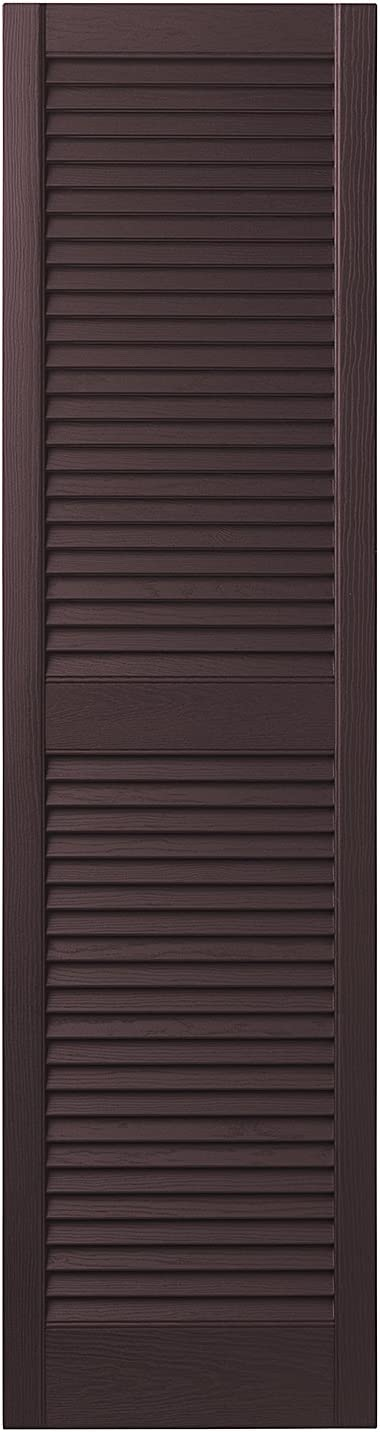 Black 15 Ply Gem Shutters and Accents VINLV1547 33 Louvered Shutter