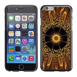 Cubierta de la caja de protección la piel dura para el Apple iPhone 6PLUS (5.7) - Purple Space Flowers