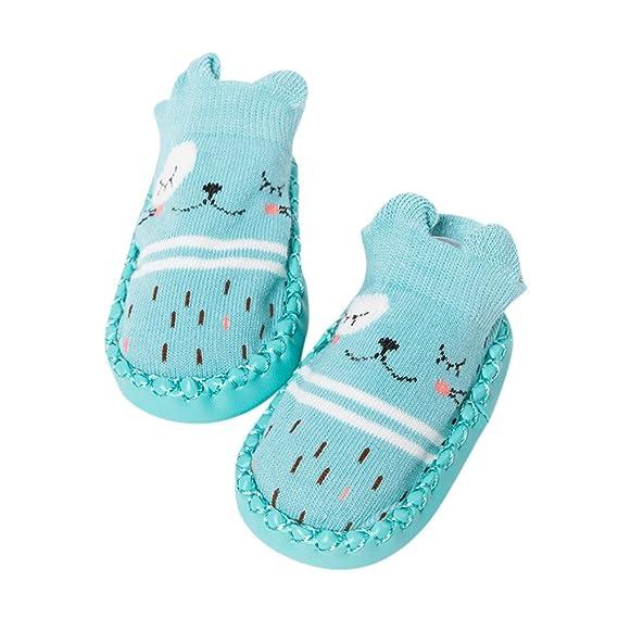 Zapatos de niño Dibujos animados Bebé recién nacido Chicas Chicos Calcetines antideslizantes Botas de zapatillas de